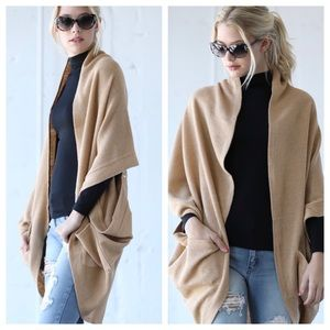 Sweaters - Cocoon Cardigan with Zipper Accent